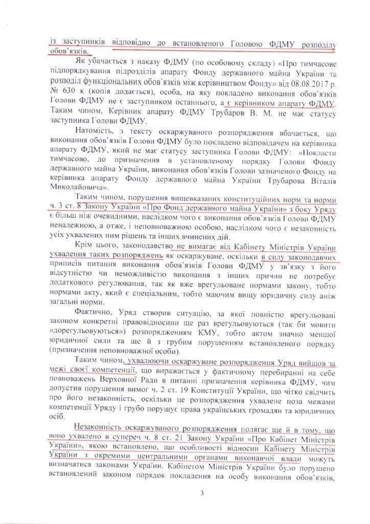 Копія Позовна заява обов'язки Голови ФДМУ покладено на керівника апарату ФДМУ3
