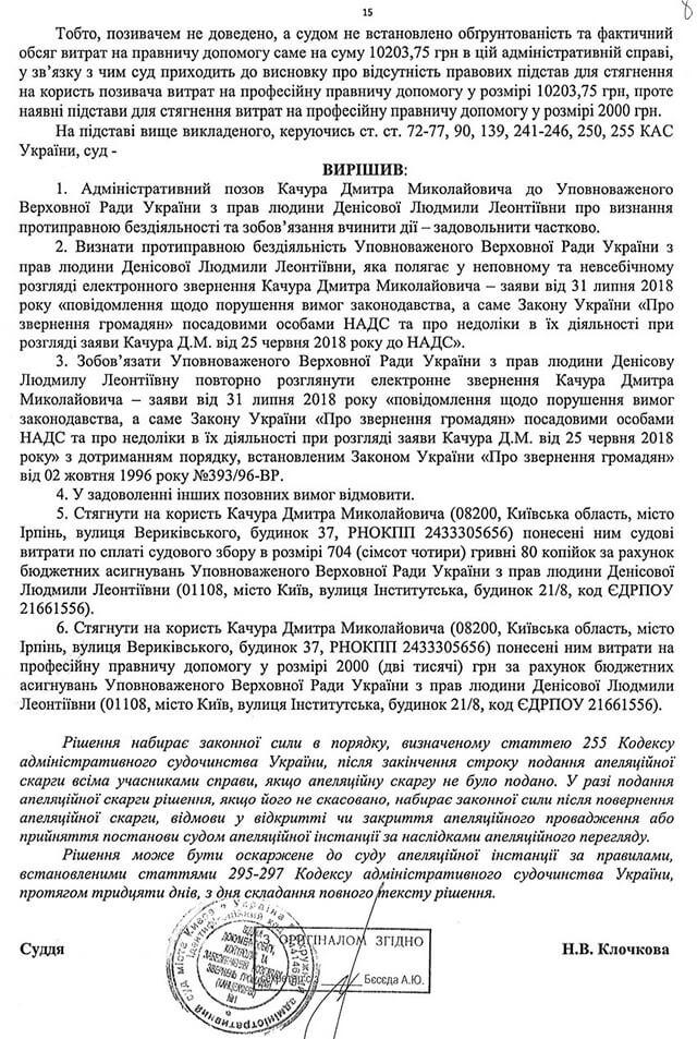Рішення окружного адміністративного судуміста Києва 640/21535/18 лист 2